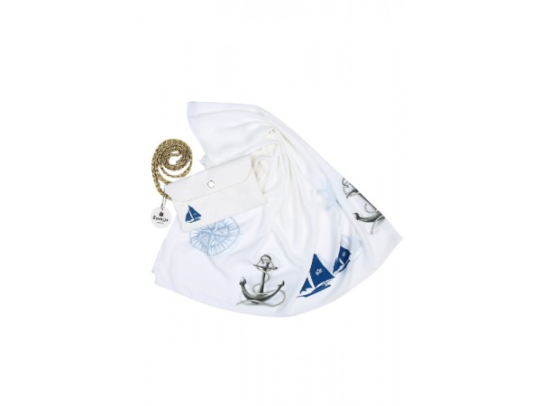 Denizci Motifli Çantalı Pareo