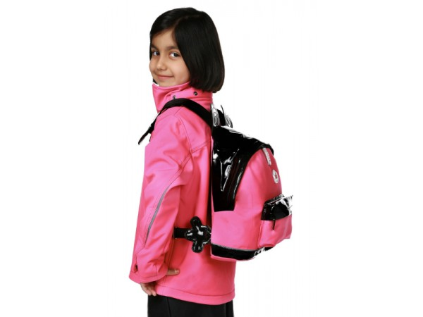 Kız Çocuk Soft Shell Çantalı Mont - Pembe