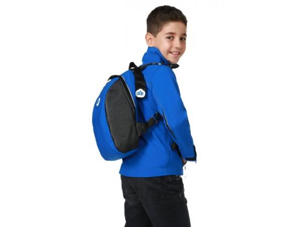 Erkek Çocuk Soft Shell Çantalı Mont - Mavi